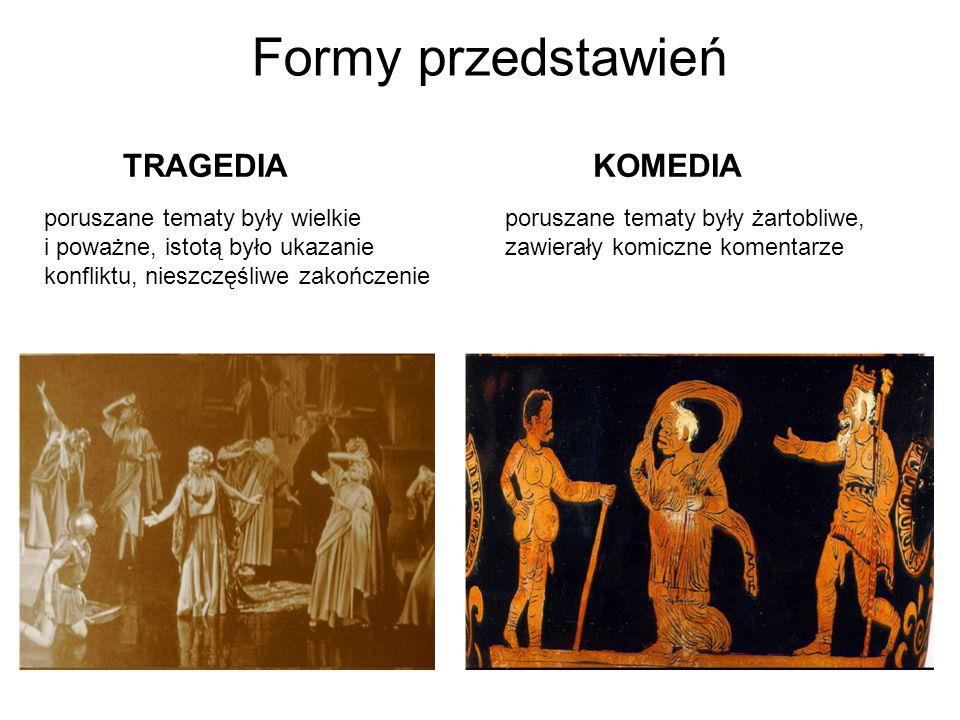 Formy przedstawień TRAGEDIA KOMEDIA