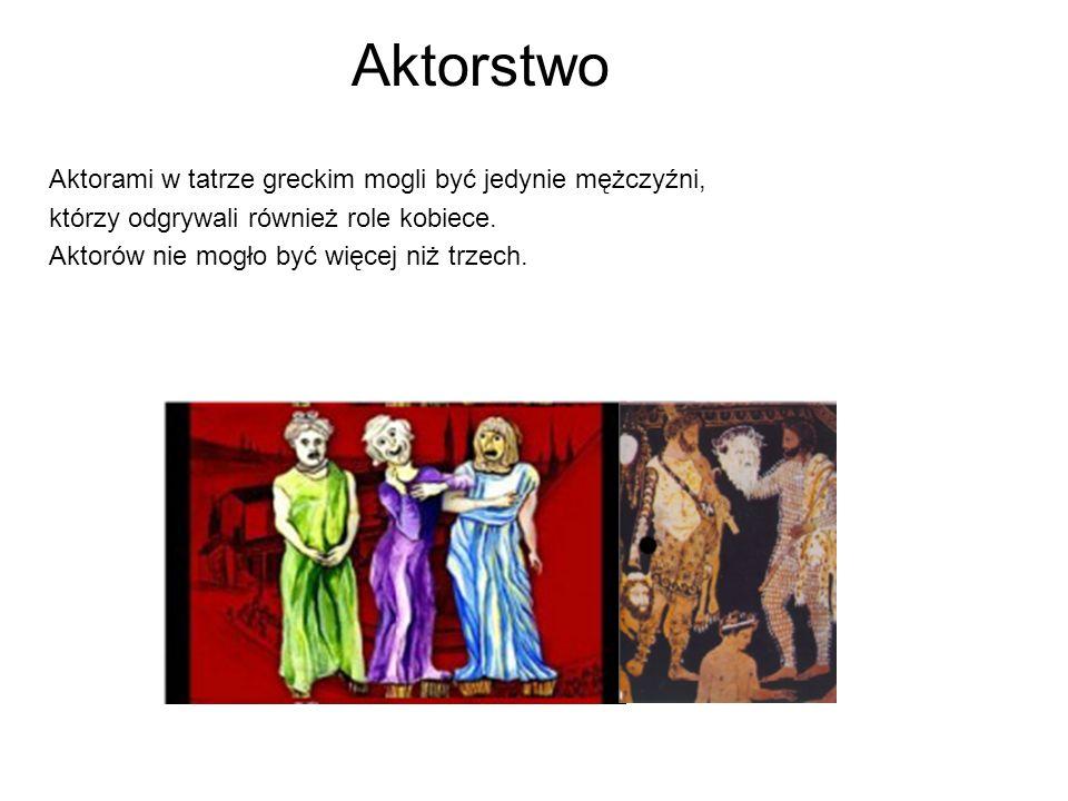 Aktorstwo Aktorami w tatrze greckim mogli być jedynie mężczyźni,