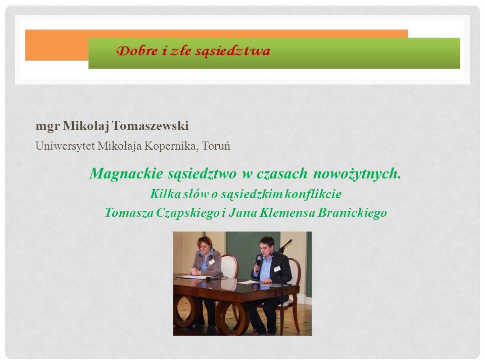 mgr Mikołaj Tomaszewski