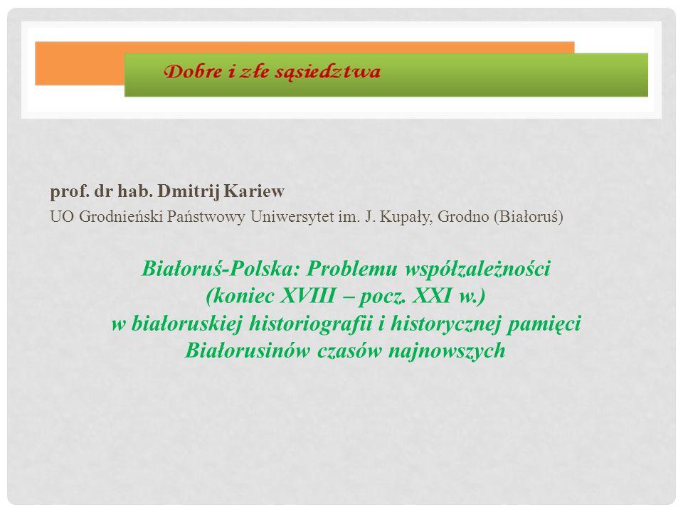 prof. dr hab. Dmitrij Kariew