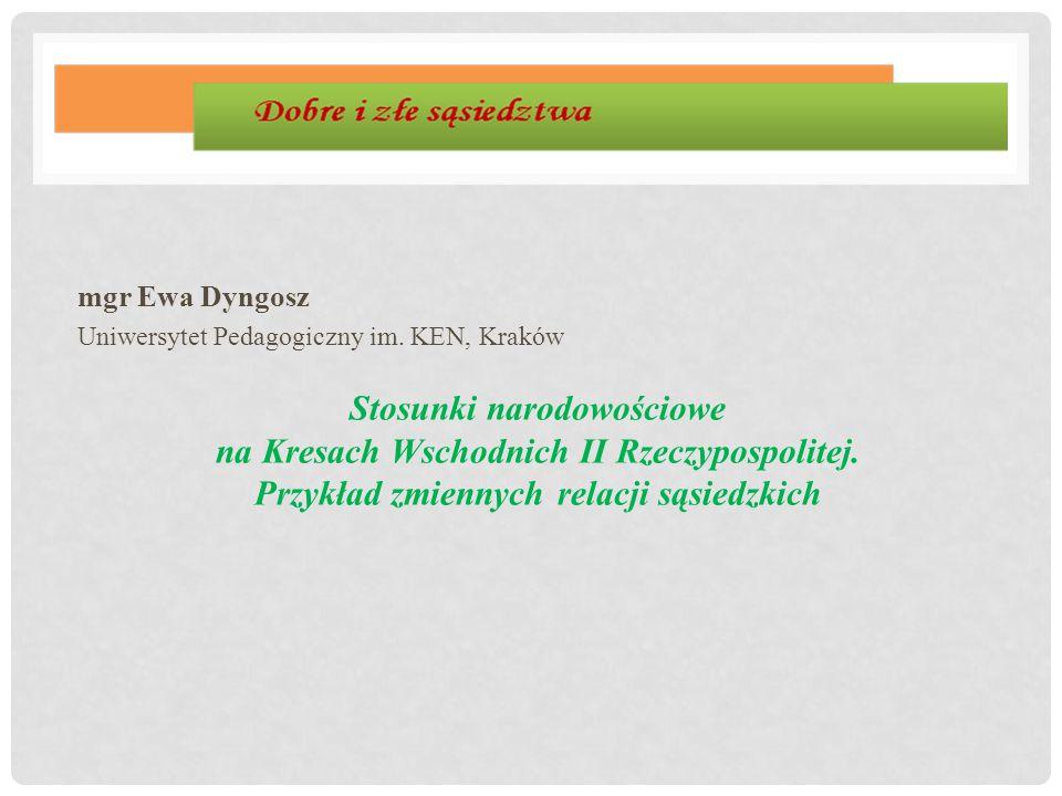 mgr Ewa Dyngosz Uniwersytet Pedagogiczny im. KEN, Kraków