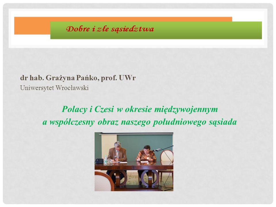 dr hab. Grażyna Pańko, prof. UWr