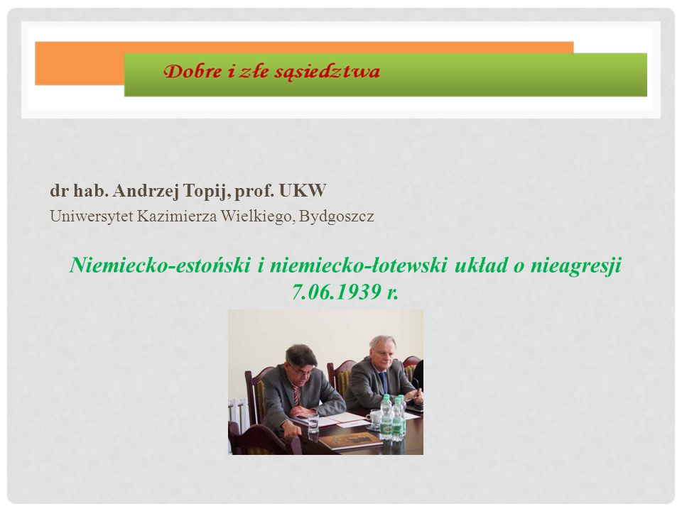 dr hab. Andrzej Topij, prof. UKW
