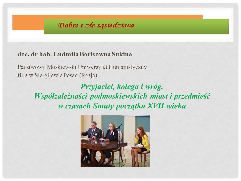 doc. dr hab. Ludmiła Borisowna Sukina