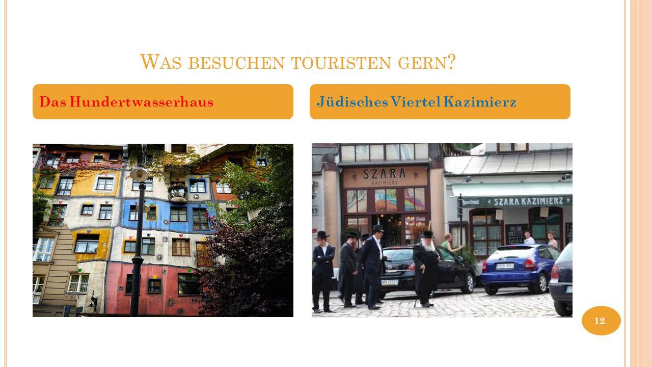 Was besuchen touristen gern