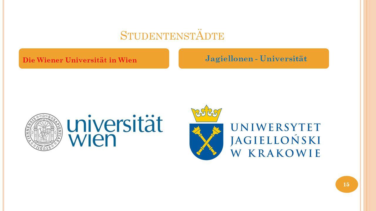 StudentenstÄdte Jagiellonen - Universität