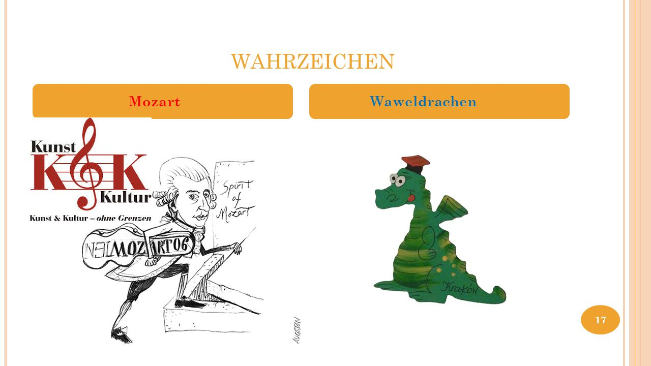 WAHRZEICHEN Mozart Waweldrachen