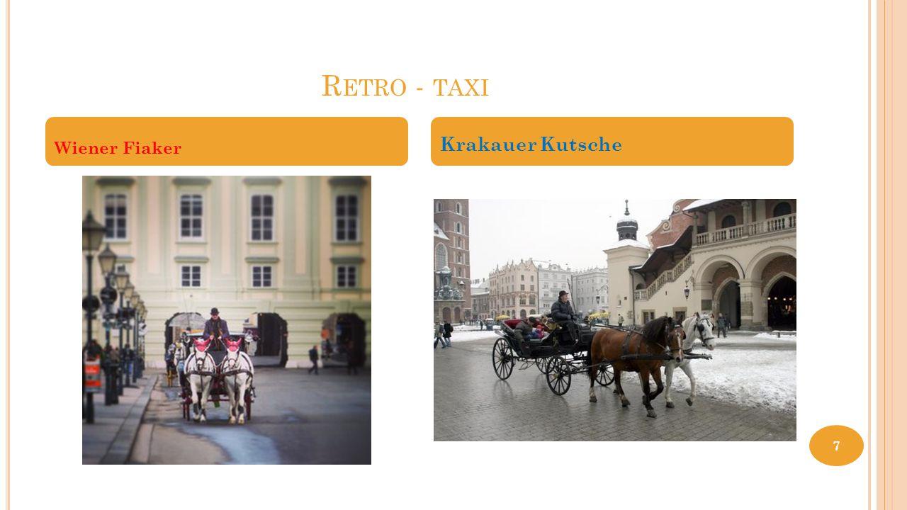 Retro - taxi Wiener Fiaker Krakauer Kutsche