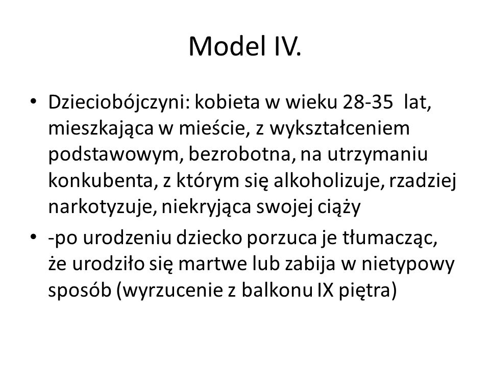 Model IV.