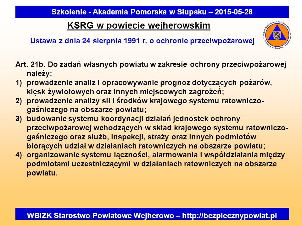 KSRG w powiecie wejherowskim