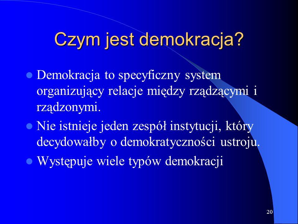 Czym jest demokracja Demokracja to specyficzny system organizujący relacje między rządzącymi i rządzonymi.
