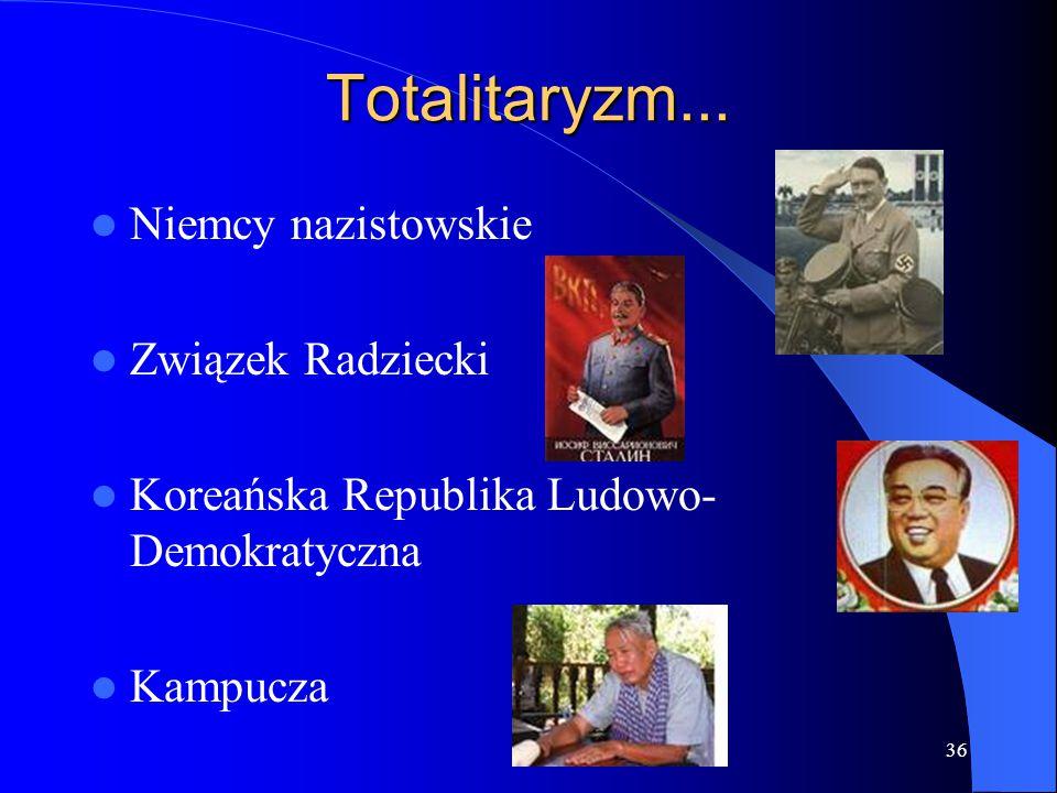 Totalitaryzm... Niemcy nazistowskie Związek Radziecki