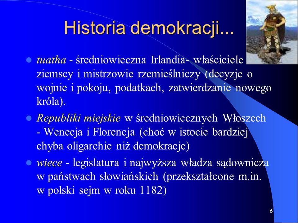 Historia demokracji...