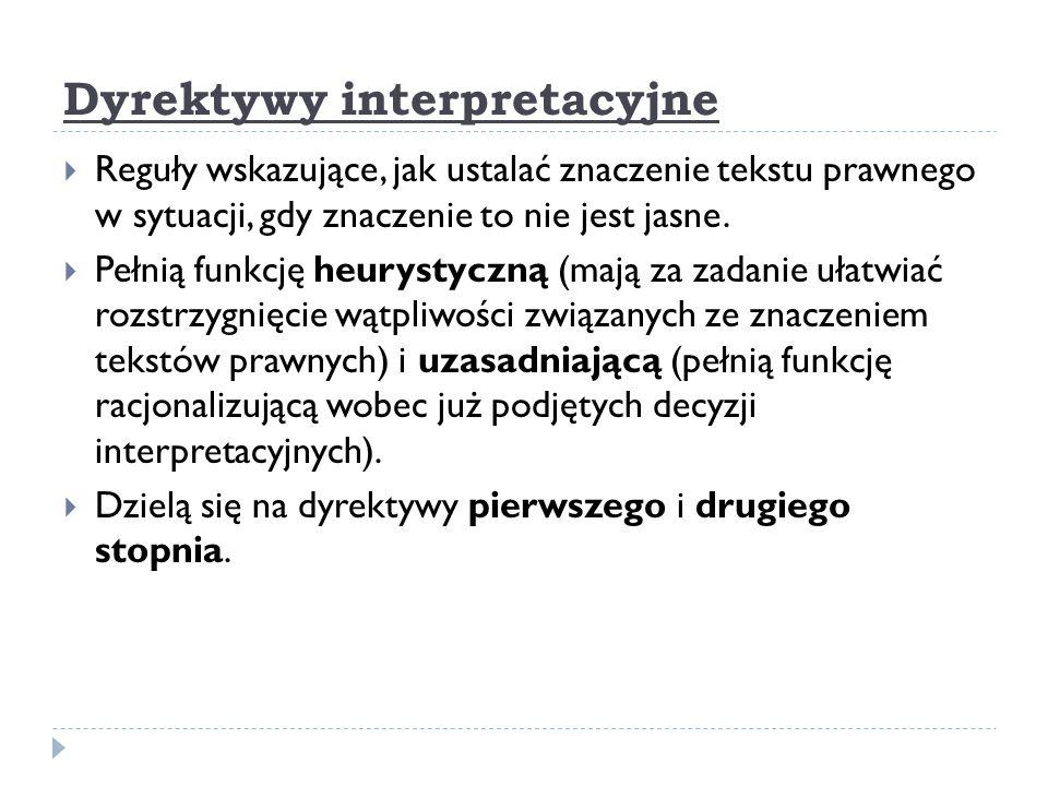 Dyrektywy interpretacyjne