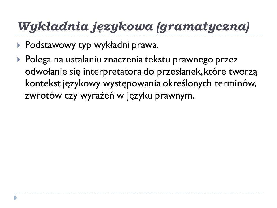 Wykładnia językowa (gramatyczna)