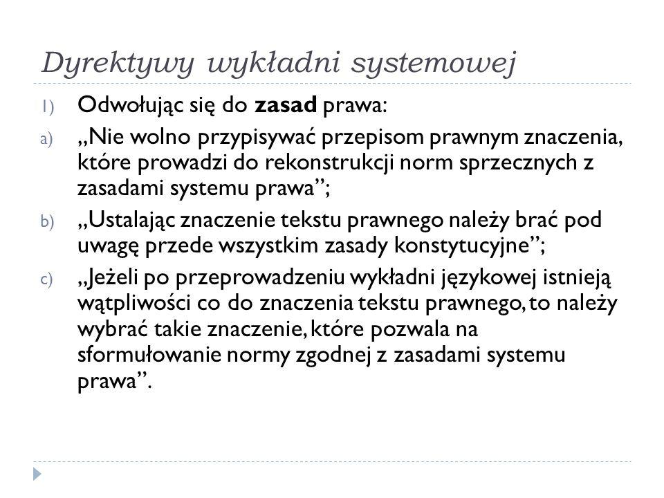 Dyrektywy wykładni systemowej