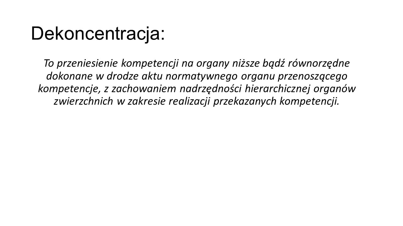 Dekoncentracja: