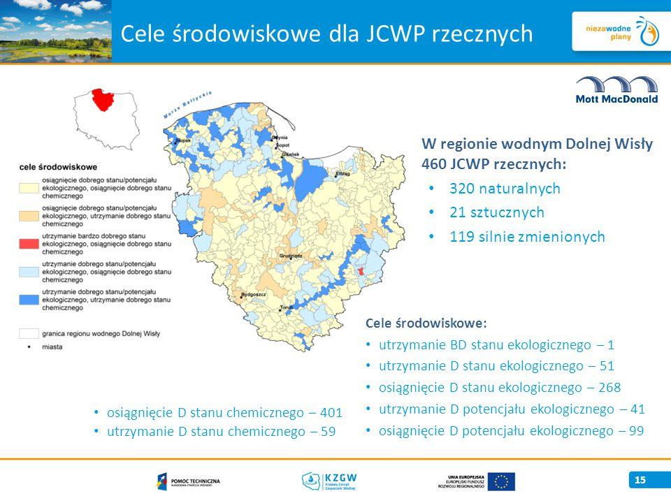 Cele środowiskowe dla JCWP rzecznych