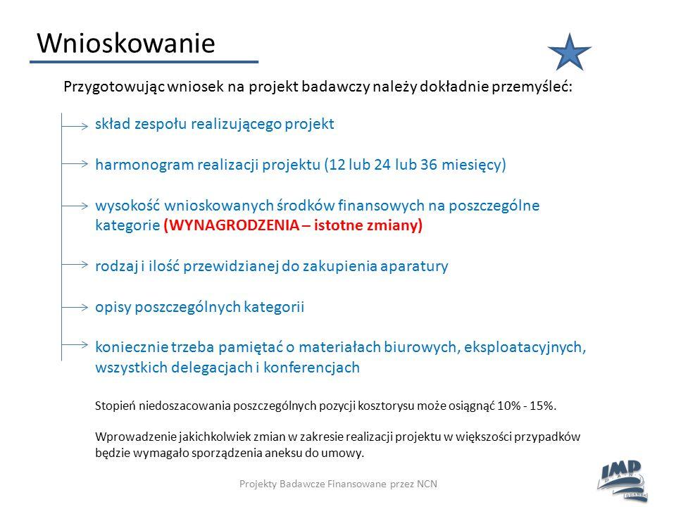 Projekty Badawcze Finansowane przez NCN