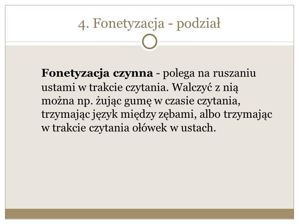 4. Fonetyzacja - podział