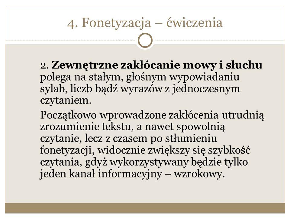 4. Fonetyzacja – ćwiczenia