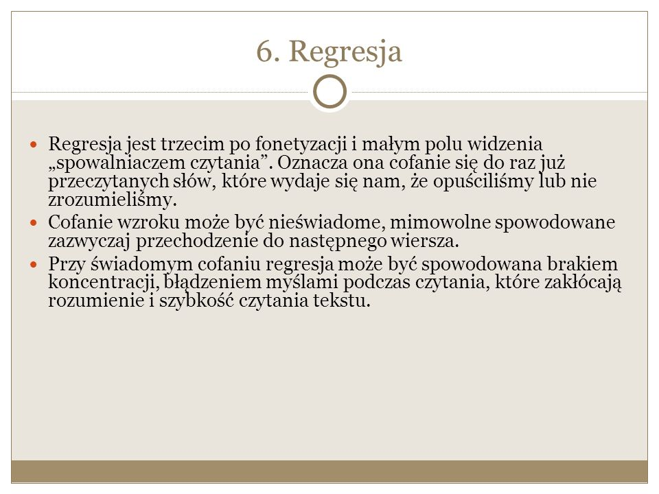 6. Regresja