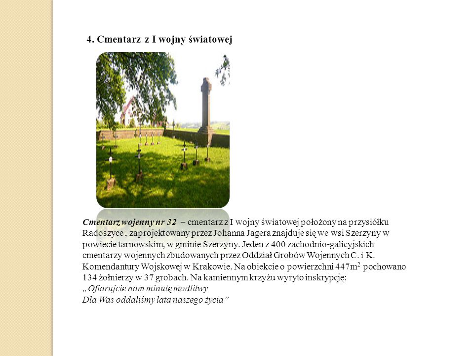 4. Cmentarz z I wojny światowej