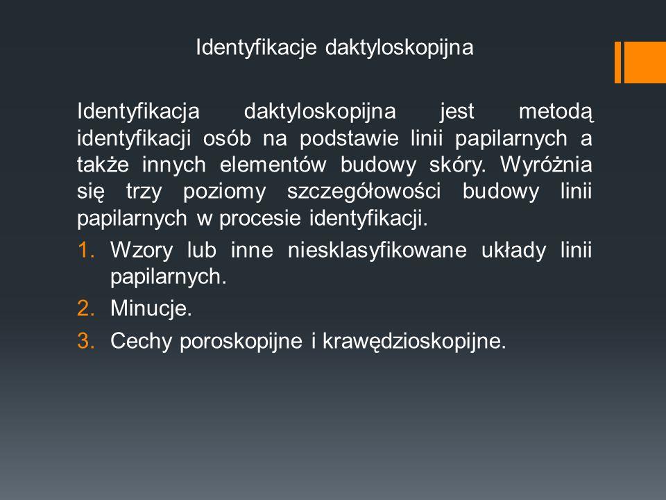 Identyfikacje daktyloskopijna
