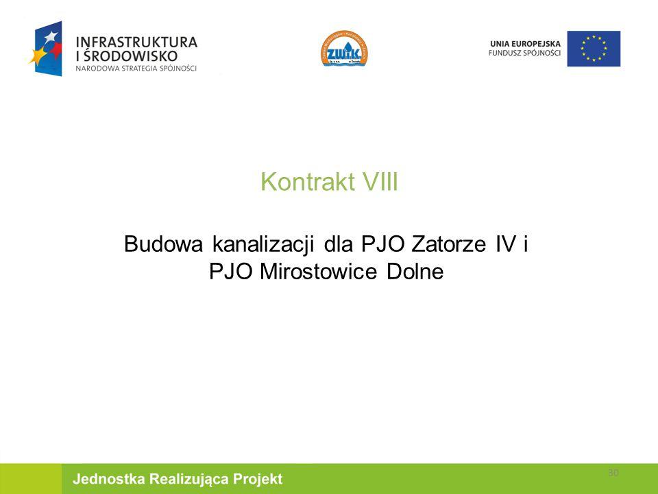 Budowa kanalizacji dla PJO Zatorze IV i PJO Mirostowice Dolne