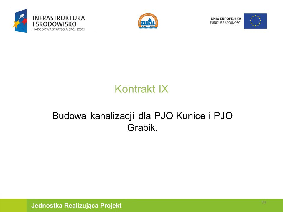 Budowa kanalizacji dla PJO Kunice i PJO Grabik.