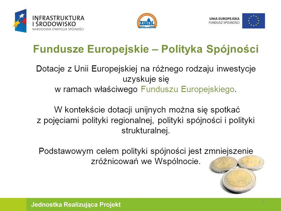 Fundusze Europejskie – Polityka Spójności