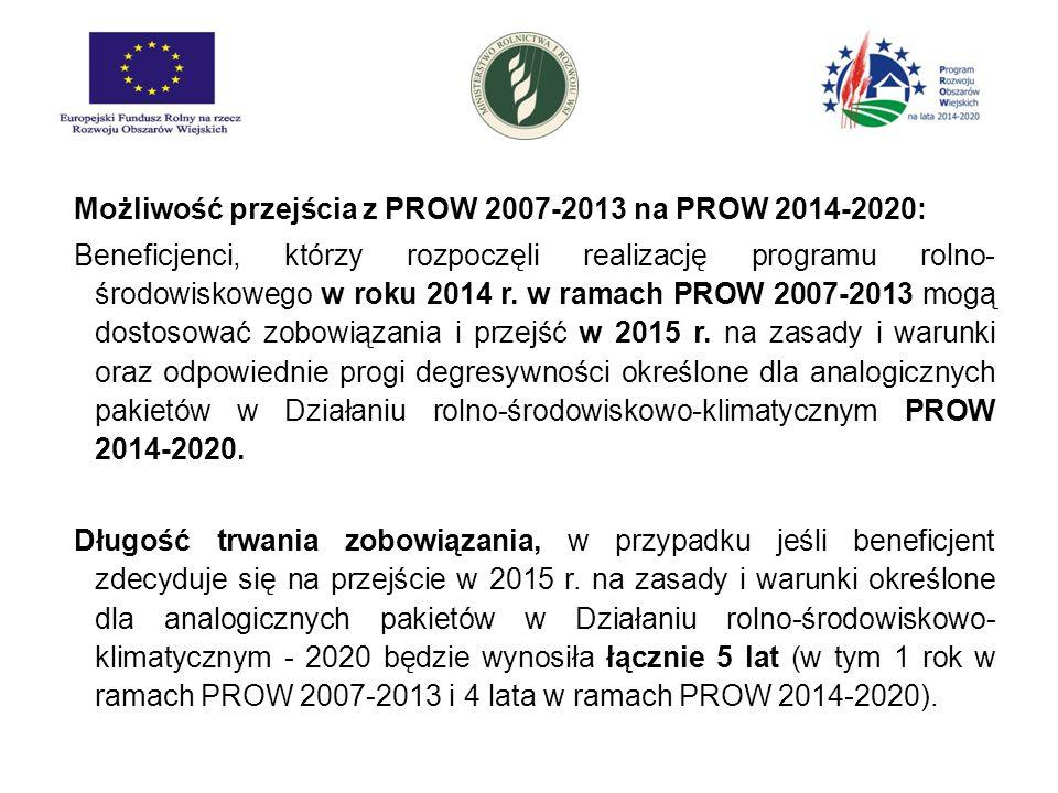 Możliwość przejścia z PROW 2007-2013 na PROW 2014-2020: