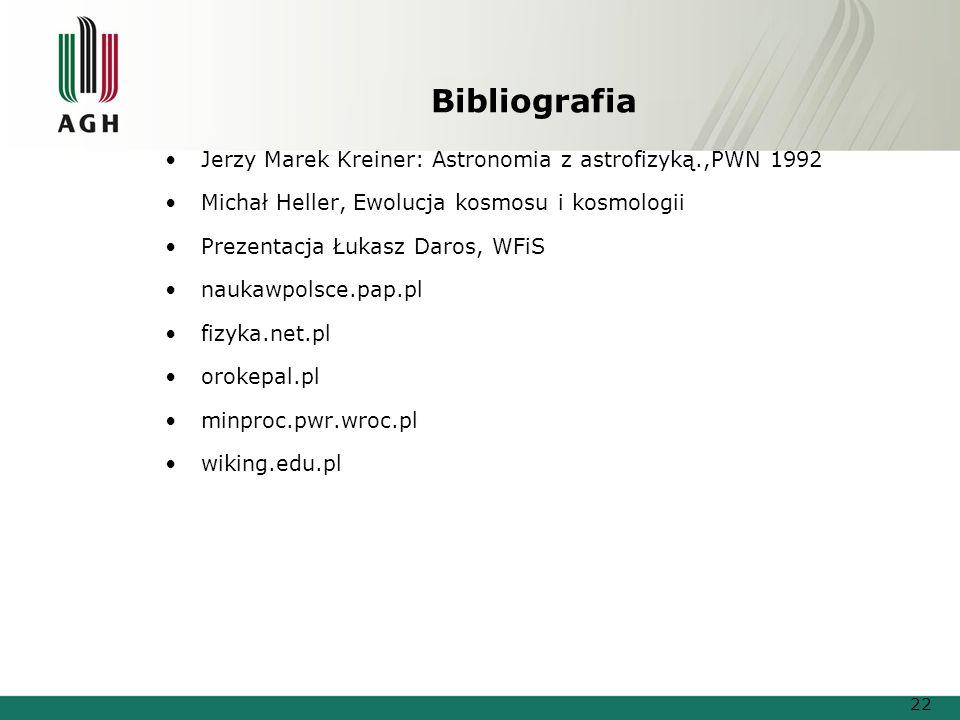 Bibliografia Jerzy Marek Kreiner: Astronomia z astrofizyką.,PWN 1992