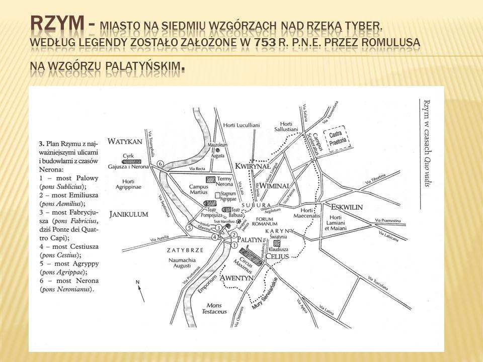 Rzym - Miasto na siedmiu wzgórzach nad rzeką Tyber