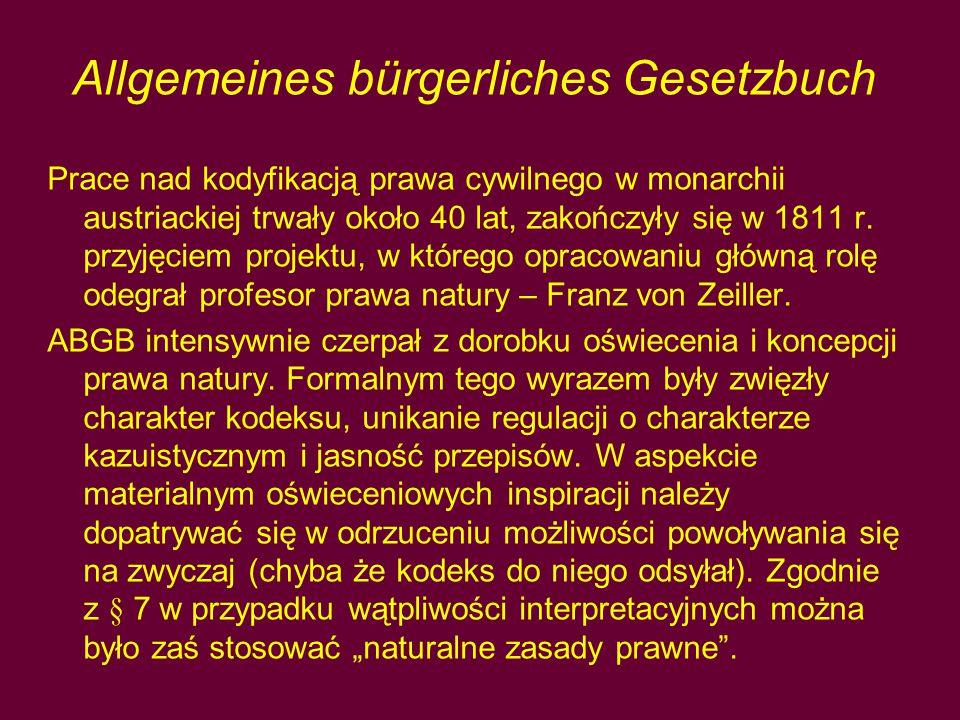 Allgemeines bürgerliches Gesetzbuch