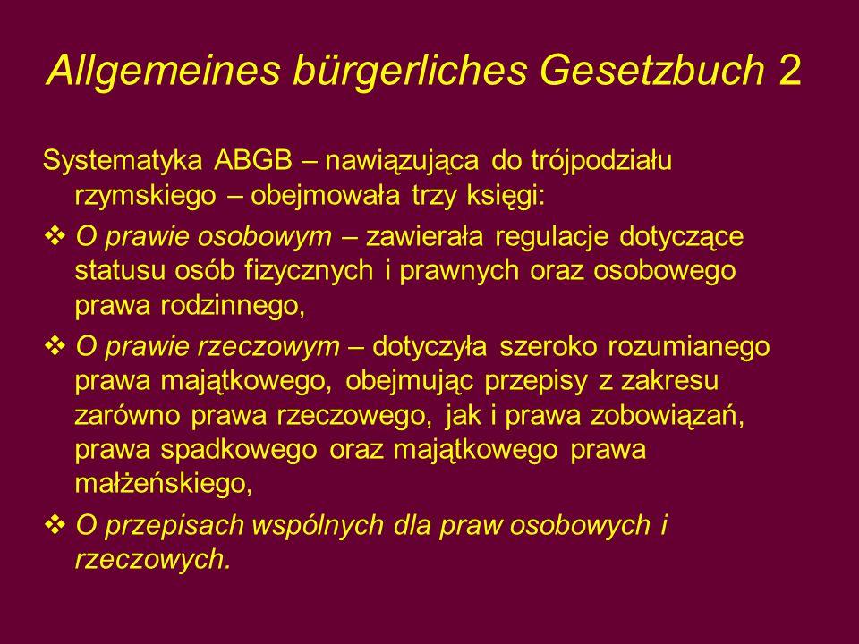 Allgemeines bürgerliches Gesetzbuch 2