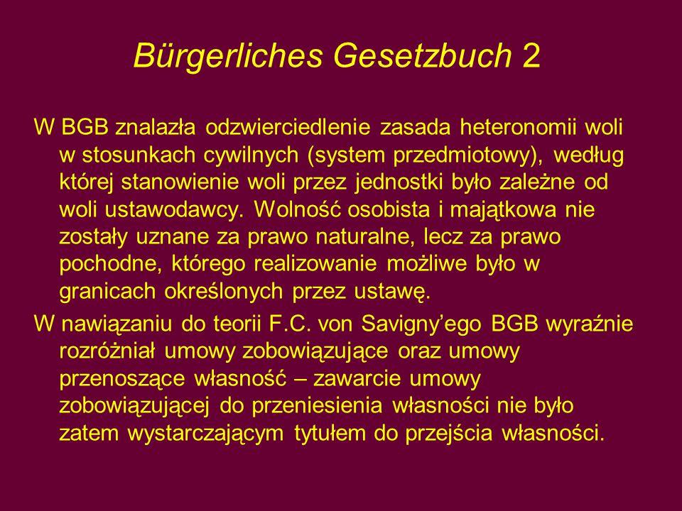 Bürgerliches Gesetzbuch 2