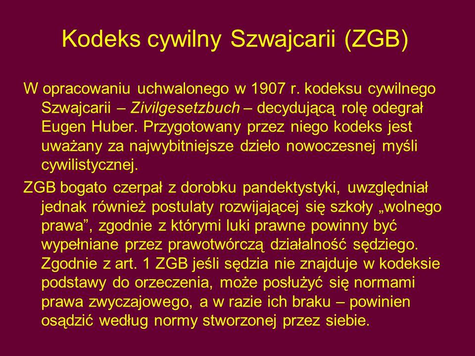 Kodeks cywilny Szwajcarii (ZGB)