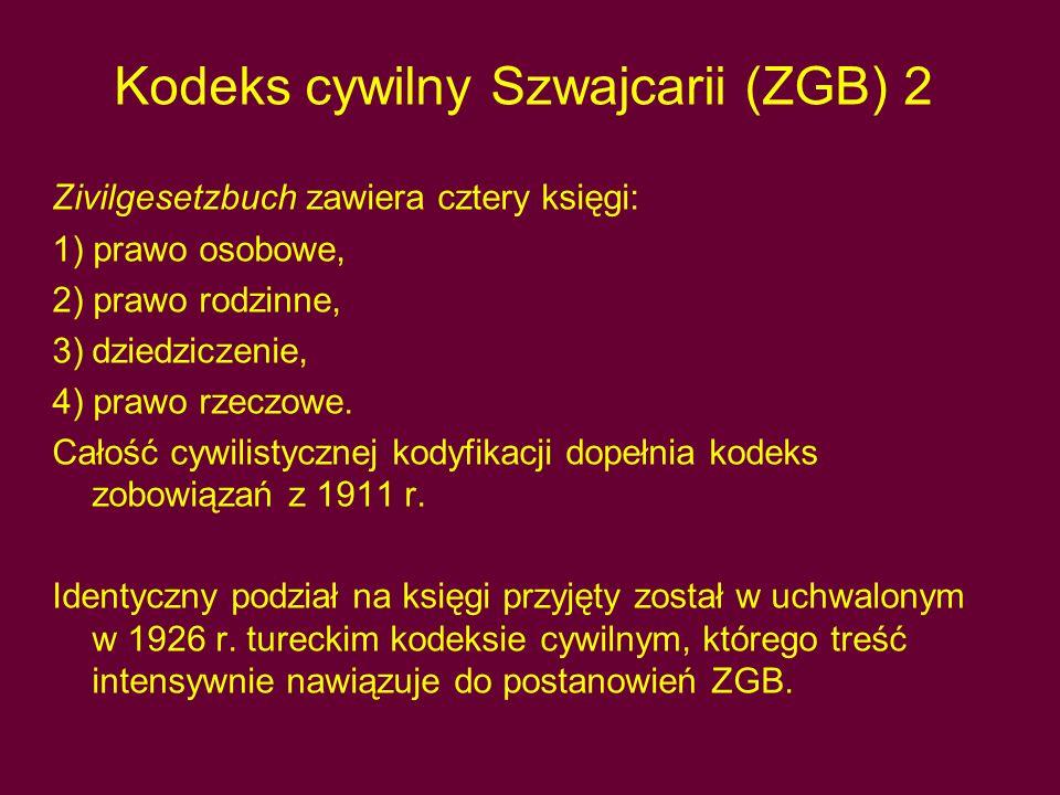 Kodeks cywilny Szwajcarii (ZGB) 2