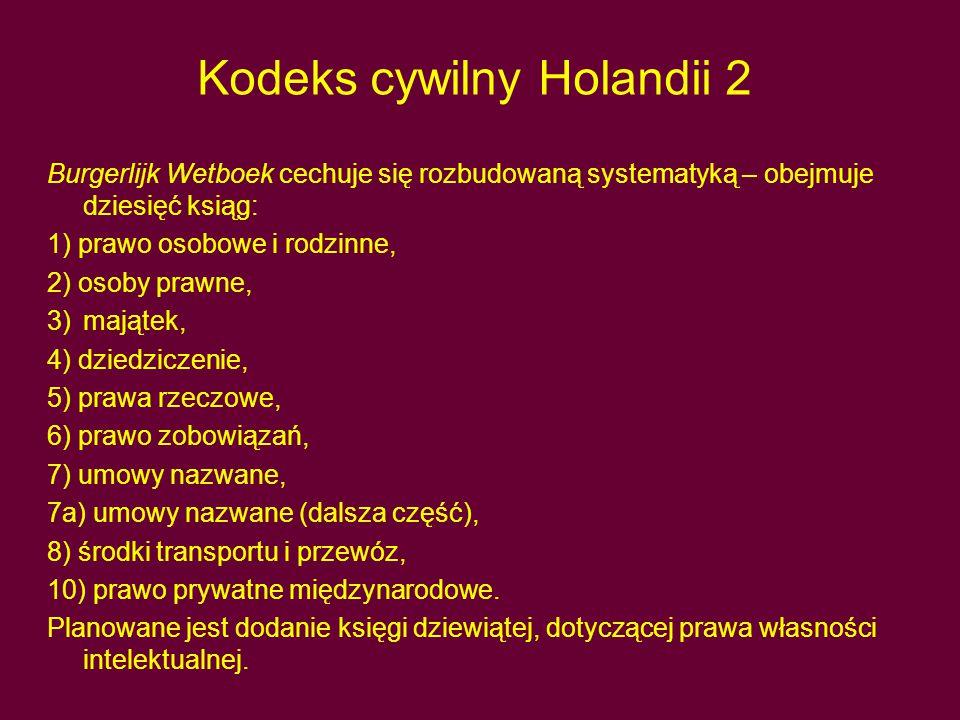 Kodeks cywilny Holandii 2
