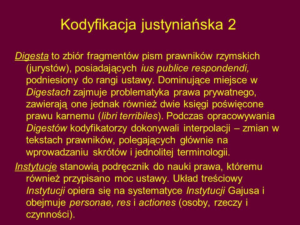 Kodyfikacja justyniańska 2