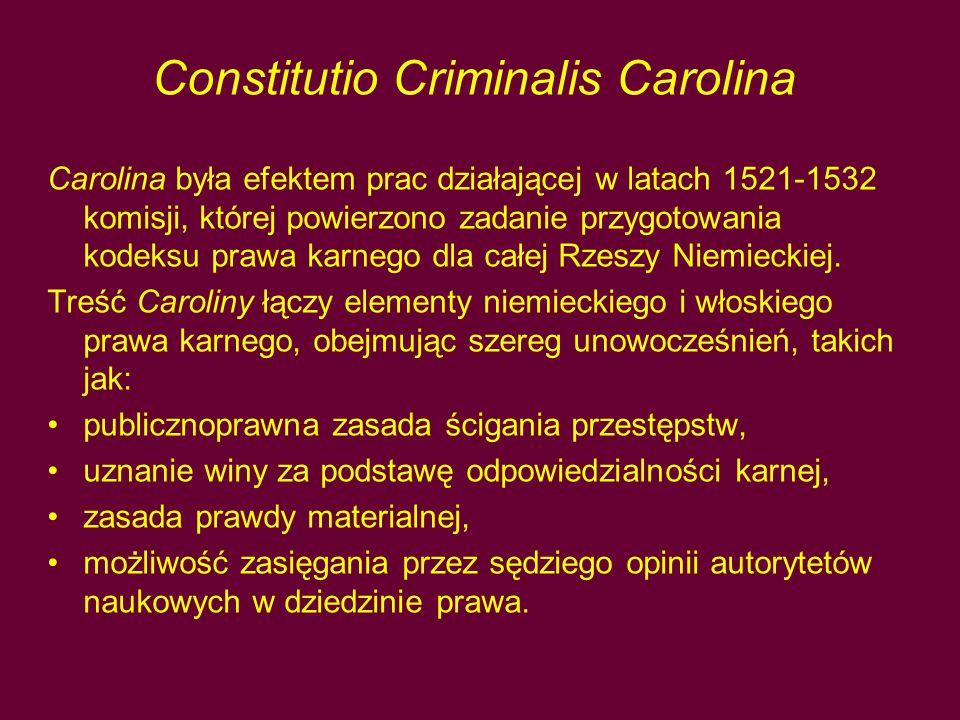 Constitutio Criminalis Carolina