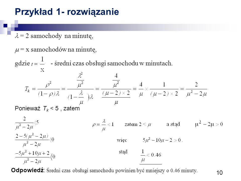 Przykład 1- rozwiązanie