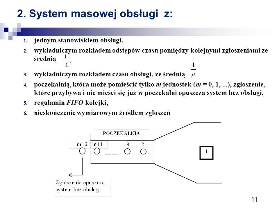 2. System masowej obsługi z: