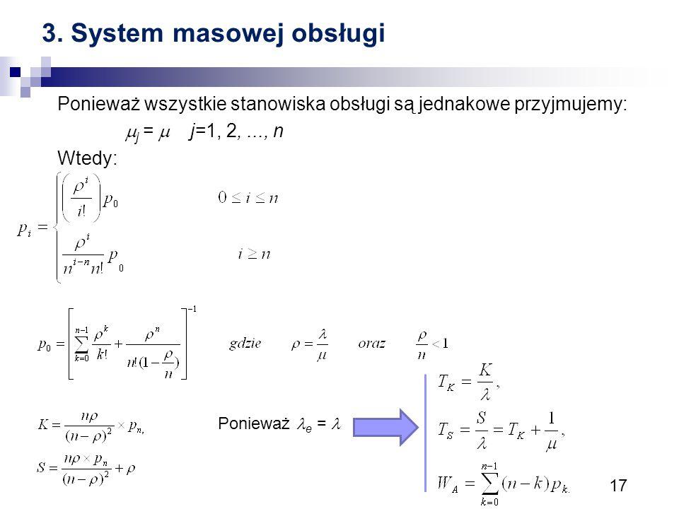 3. System masowej obsługi