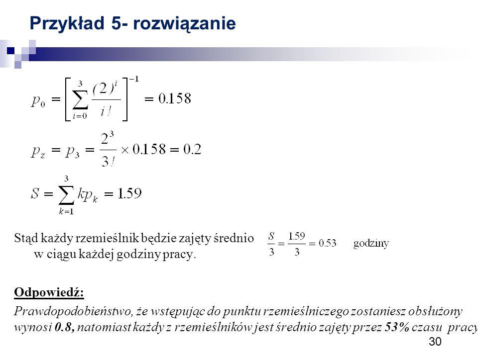 Przykład 5- rozwiązanie