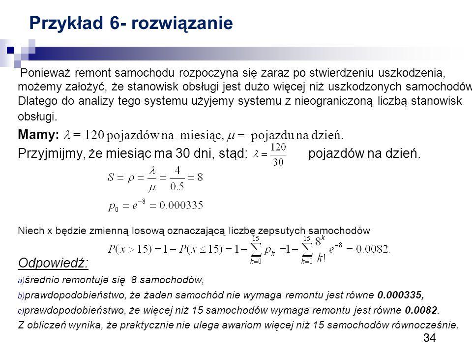 Przykład 6- rozwiązanie