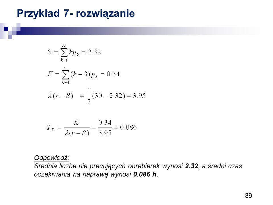 Przykład 7- rozwiązanie