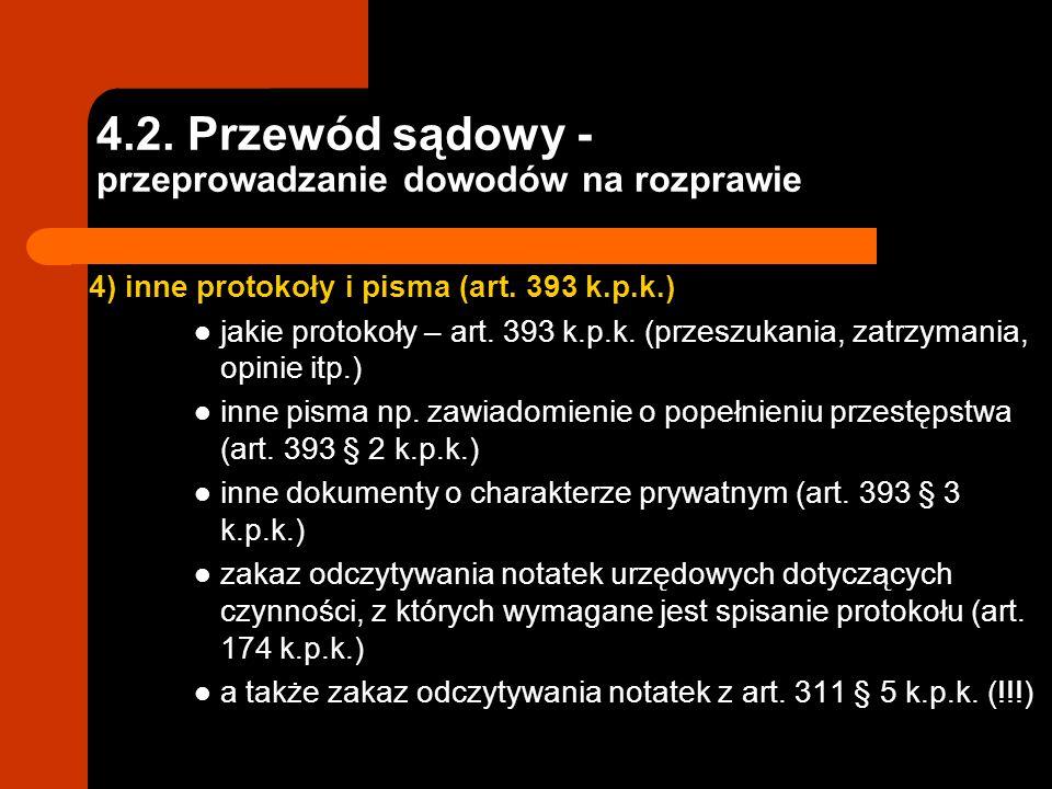 4.2. Przewód sądowy - przeprowadzanie dowodów na rozprawie