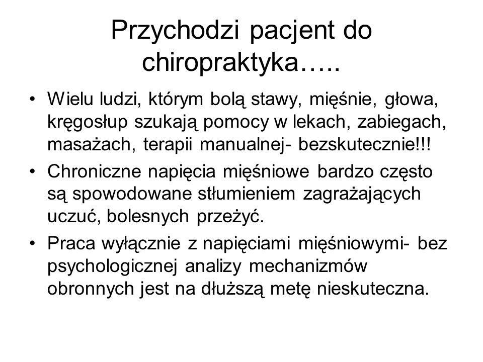 Przychodzi pacjent do chiropraktyka…..